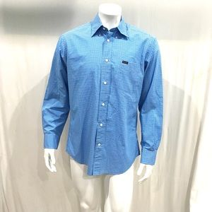 Faconnable Mens Blue Dress Shirt